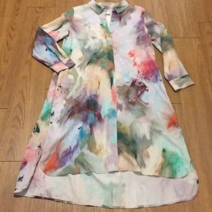 Poetry of London multi colored shirt dress